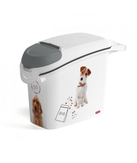 CURVER Conteneur a croquettes empilable 6 Kg Love pets - Blanc - Pour chien