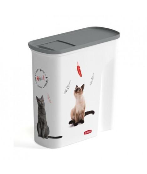 CURVER Verseuse Love pets 6 L - Blanc - Pour chat