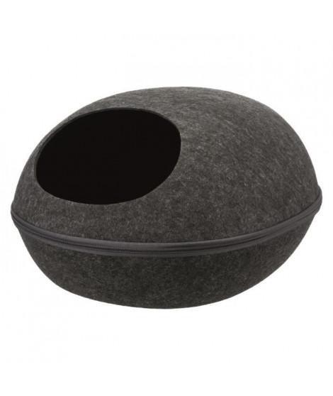 TRIXIE Abri douillet Liva 40 × 24 × 47 cm - Gris anthracite - Pour chien