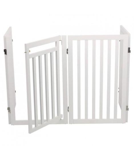 TRIXIE Barriere avec porte - 60 / 160 x 81 cm - Blanc - Pour chien