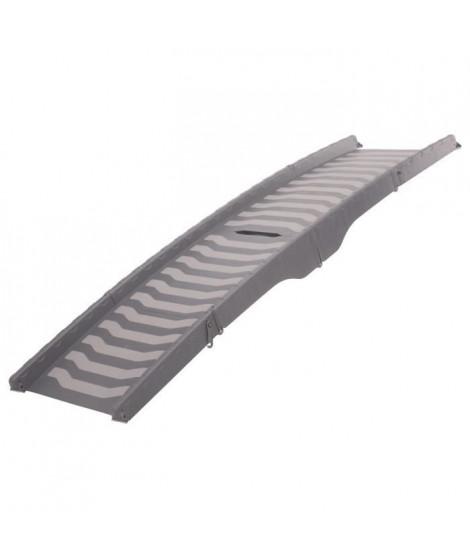 TRIXIE Rampe - 39 x 150 cm - Plastique - Repliable en 3 parties - Gris - Pour chien