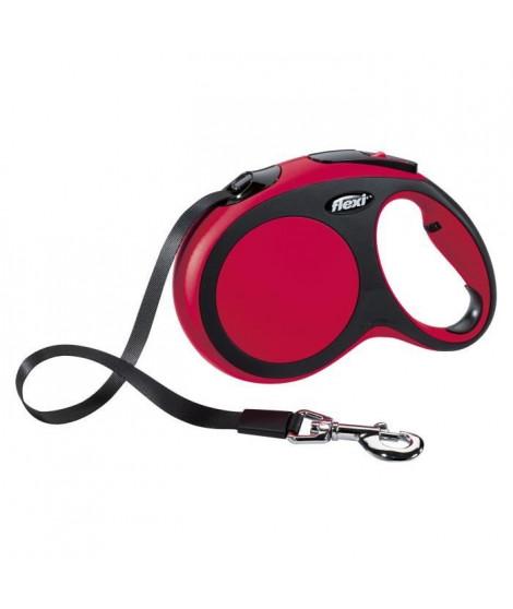 KERBL Laisse-corde Flexi New Confort L - Longueur : 5 m - Poids max : 60 kg - Rouge - Pour chien