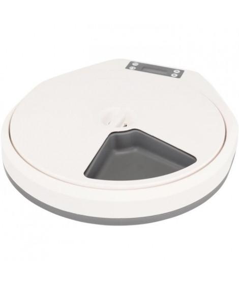 TRIXIE Distributeur automatique de nourriture TX5 - 5 x 240 ml / 33 x 5 x 36 cm - Blanc et gris - Pour chien