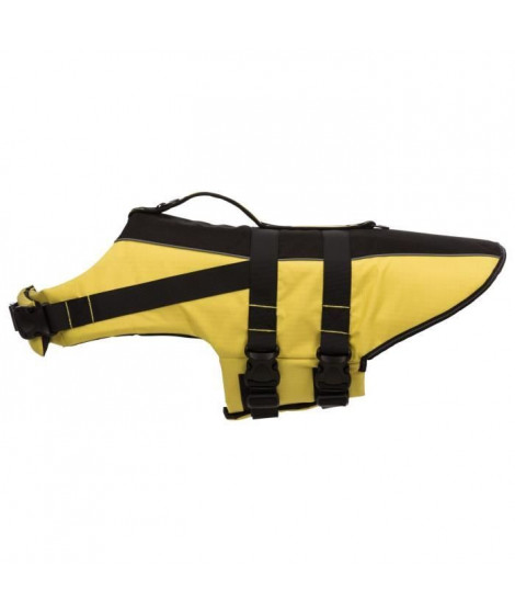 TRIXIE Gilet de sauvetage - XL: 65 cm - Jaune et noir - Pour chien
