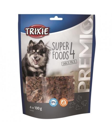 TRIXIE PREMIO 4 Superfoods - Poulet, canard, boeuf, agneau - 4 x 100 g - Pour chien