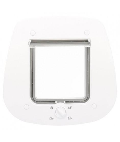Chatiere - 4 positions - Pour porte verre - 27 × 26 cm - Blanc