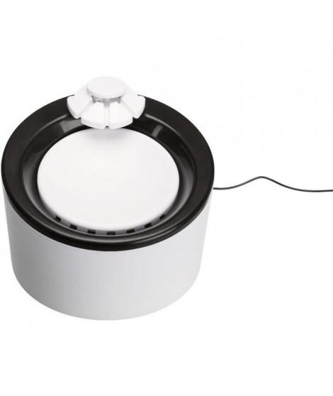 TRIXIE Distributeur automatique d'eau Triple Flow - 2 l - Noir et blanc - Pour chien