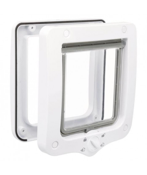 Chatiere - 4 positions - 20 × 22 cm - Blanc