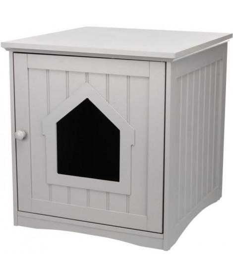 TRIXIE Cabine de toilette - 49 × 51 × 51 cm - Gris - Pour chat