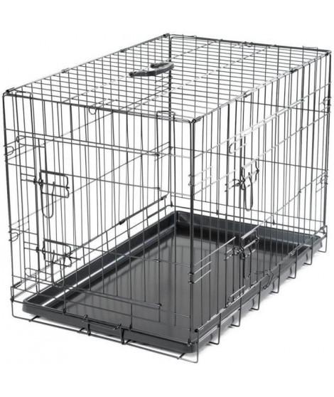 VADIGRAN Cage métallique pliable Classic - 76 x 48 x 55 cm - Noir - Pour chien