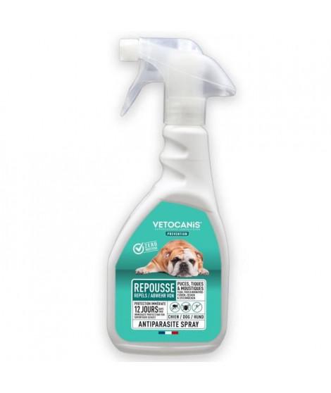 VETOCANIS Spray anti-puces, anti-tiques et anti-moustiques - Pour Chien - 500 ml