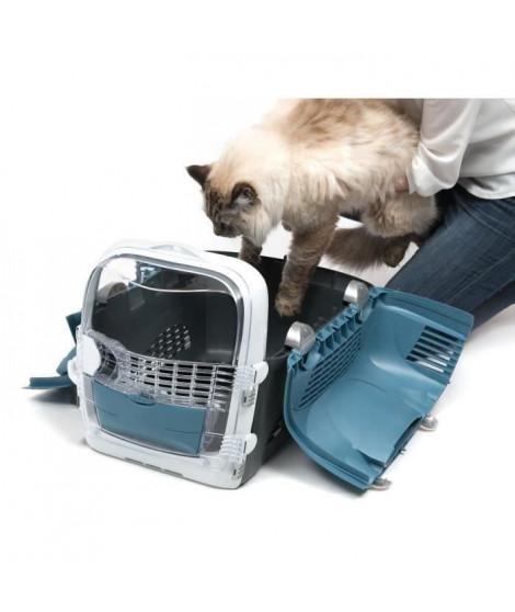 CAT IT Cage de transport Cabrio - Bleu gris - Pour chat