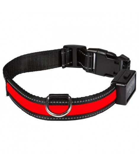EYENIMAL Collier lumineux Light Collar USB rechargeable M - Rouge - Pour chien