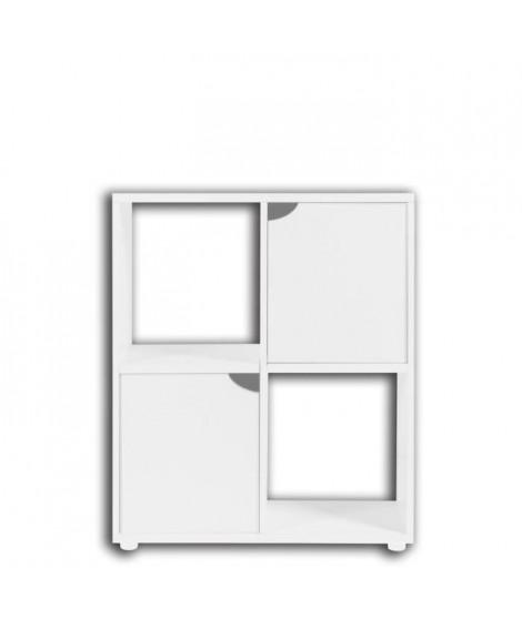 ZOLUX Meuble pour aquarium terrarium Karapas - L 60 x p 30 x h 72 cm - Blanc