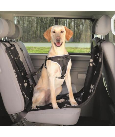 TRIXIE Couverture pour sieges de voiture - 0,65x1,45m - Noir et beige - Pour chien