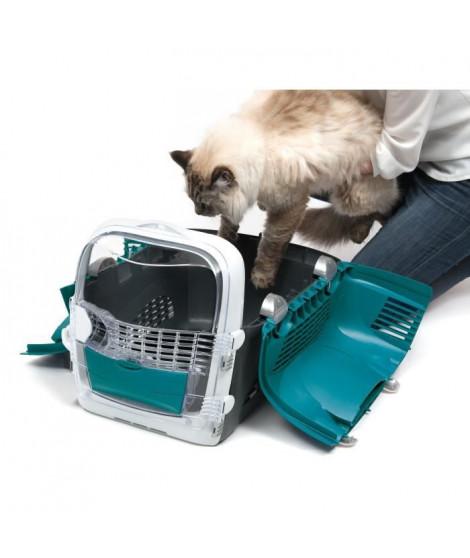 CAT IT Cage de transport Cabrio - Bleu turquoise - Pour chat