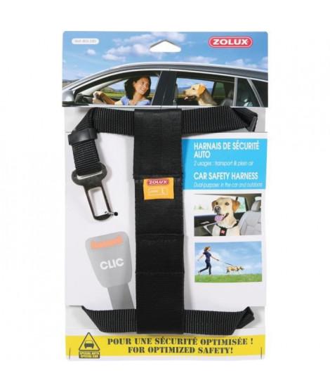 ZOLUX Harnais de sécurité avec attache pour véhicule L - Pour chien