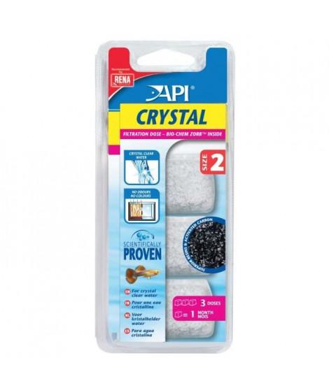 API Dose filtration Crystal T2 (x3) - Pour aquarium