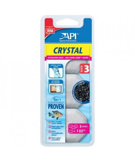 API Dose filtration Crystal T3 (x3) - Pour aquarium