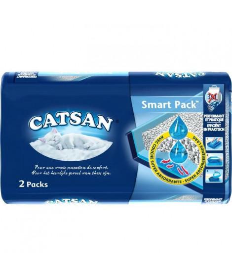 CATSAN Litiere et sac pret a poser Smartpack 2 x 4 l - Pour chat