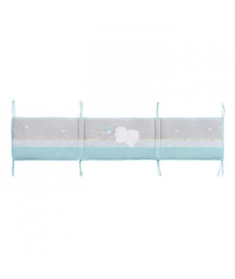 TINEO Tour de lit pilou - Garnissage moelleux - Extérieure en soft boa - Pour lit 60 x 120 et 70 x 140 cm