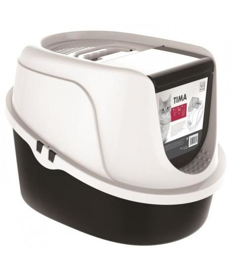 M-PETS Maison de toilette Tima - 52,3x39,7x38cm - Noir et blanc - Pour chat