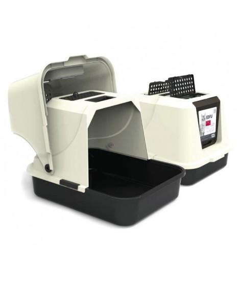 MPETS Maison de toilette Edfu - Pour chat - Noir et blanche