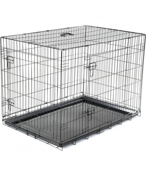 VADIGRAN Cage métallique pliable Classic - 109 x 71 x 79 cm - Noir - Pour chien