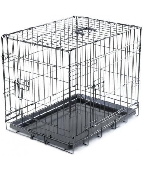 VADIGRAN Cage métallique pliable Classic - 61 x 46 x 51 cm - Noir - Pour chien