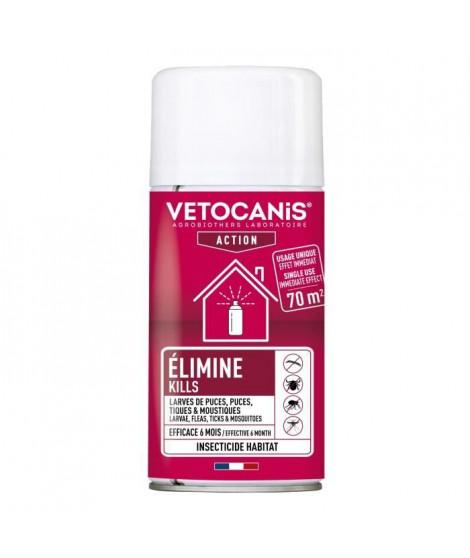 VETOCANIS Spray / Diffuseur anti-puces et anti-tiques pour l'habitat - Lot de 2 x 150 ml