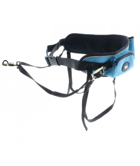 I DOG Ceinture Canicross - Bleu et gris - Pour chien