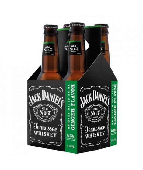 Jack Daniel's Ginger Flavor - Cocktail pret-a-boire - 5,5%vol - 4x33cl