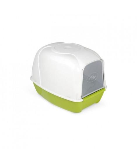 AIME Maison de toilette arrondie Kroki - 53 x 41 x 27,5 cm - Pour chat