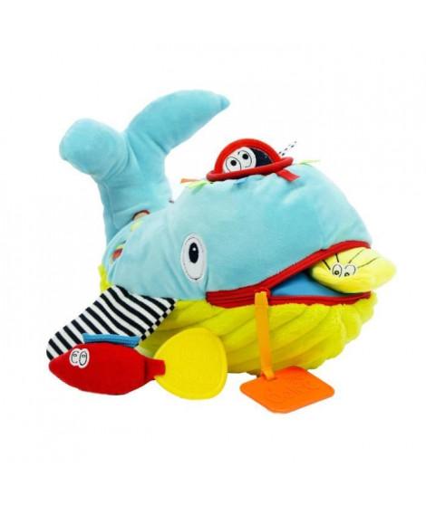 DOLCE Peluche jouet d'éveil - La baleine