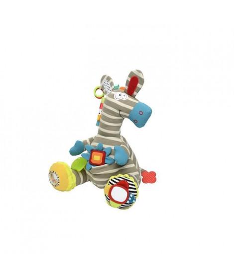 DOLCE Peluche jouet d'éveil - Le zebre