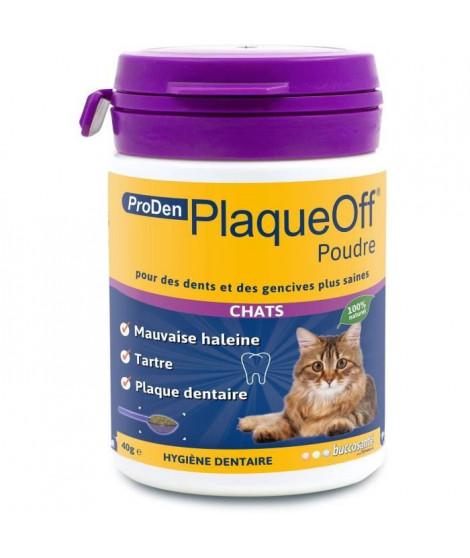 PLAQUE OFF Poudre hygiene dentaire - Pour chat - 40 g