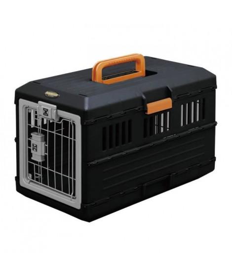 IRIS OHYAMA - Boîte de transport pliable FC-550 - Max 12 kg - Noir - 31,5 x 55 x 36,4 cm - Pour chien et chat