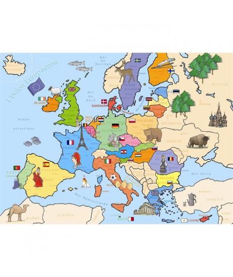 Puzzle 250 pcs Carte d'Europe
