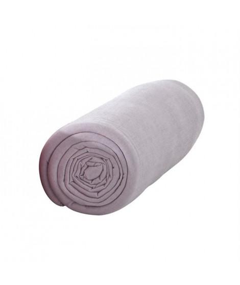 TODAY Drap housse jersey 100% coton - 160x200 cm - Poudre de lila