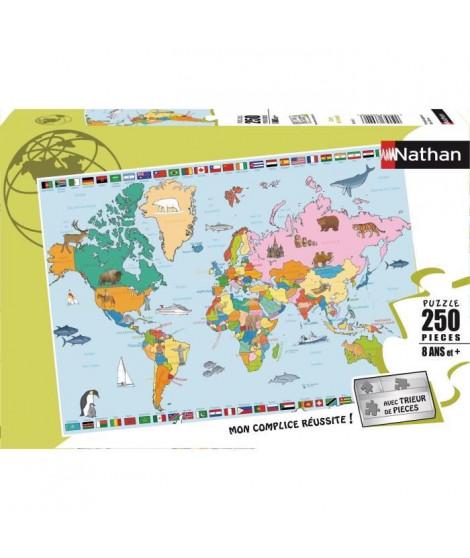 Puzzle 250 pcs Carte du Monde