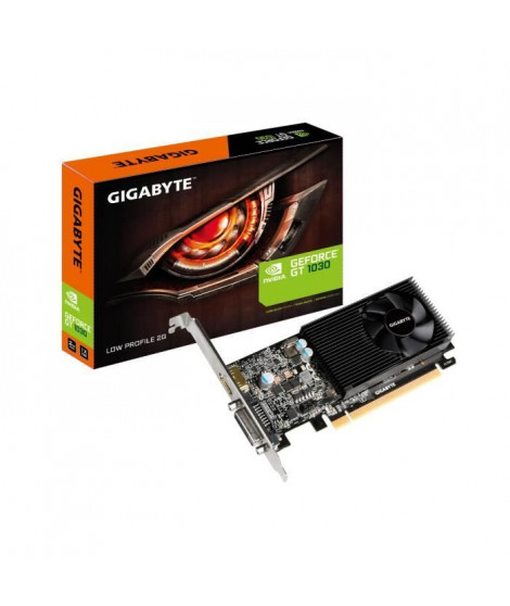 Gigabyte Carte graphique GeForce GT 1030 Low Profile 2G - 2 Go - GDDR5