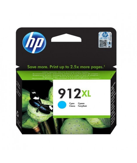 HP Cartouche jet d'encre 912XL - Cyan - Jet d'encre - Rendement élevé - 825 pages