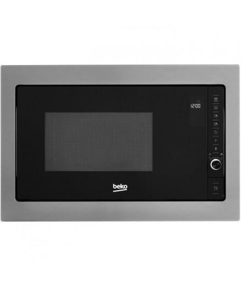 BEKO - MGB25332BG - Micro-ondes Gril Encastrable - 25L - 38 x 56 x50 - Inox et verre noir