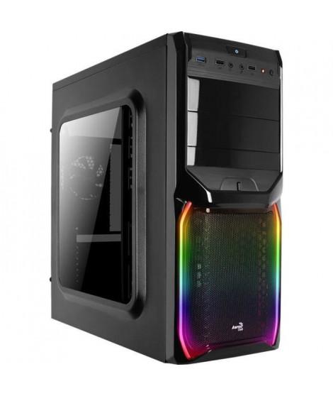 AEROCOOL Boîtier PC V3X - Avec fenetre - RGB - Format ATX - Moyen Tour - Noir