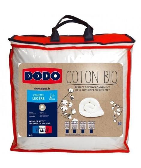 DODO Couette légere Coton Bio - 240 x 260 cm - Blanc