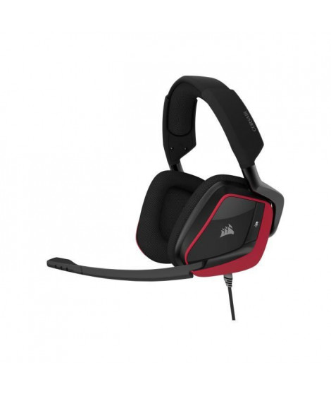CORSAIR Casque Gamer VOID ELITE SURROUND - Filaire - Rouge Cerise (CA-9011206-EU)
