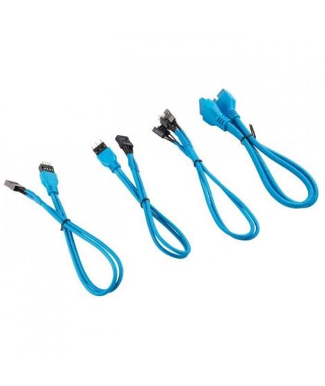 CORSAIR Kit d'extension gainé pour panneau avant Premium 30cm - Bleu (CC-8900247)