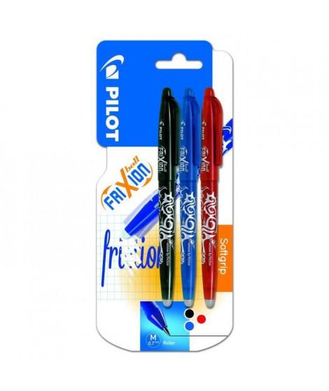 PILOT - Frixion Ball Moyen - Encre noire / bleue / rouge - x3