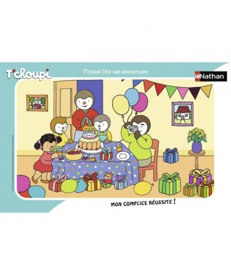 RAVENSBURGER - Puzzle cadre 15 pieces T'choupi fete son anniversaire