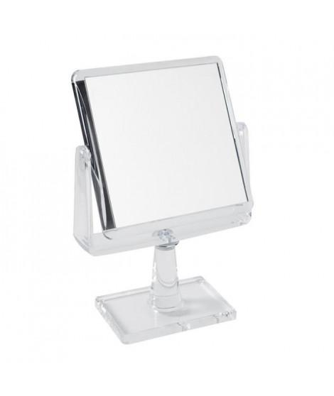 GERSON Miroir sur pied grossissant - Transparent - 15,5x15,5 cm - H26 cm